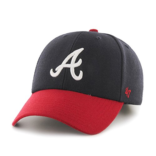 MLB Atlanta Braves Juke MVP Adjustable Hat, Navy-Home, One S