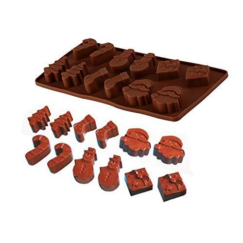 Silicone Mold - 1 Pcs Multiple Modelling Santa Cake Chocolat