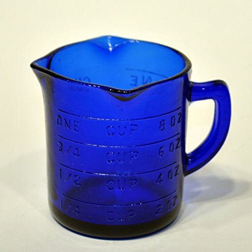 Cobalt Blue Glass Measuring Cup ()