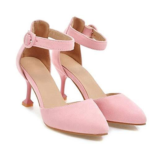 ZHZNVX Spring Heel Zapatos de Beige Black Tacones básica Beige Stiletto Pink Mujer Bomba Suede UUTqr