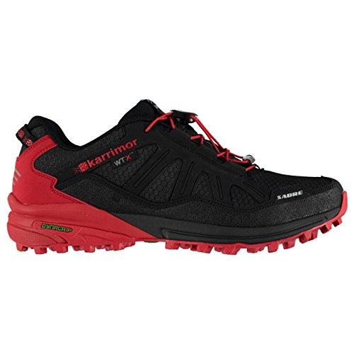 Karrimor Mens Sabre WTX Trail Running Shoes Breathable Waterproof Black/Red VAHaObkv