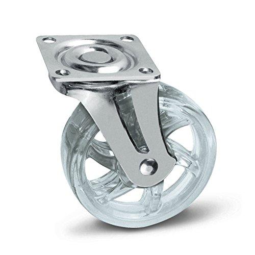 SO-TECH® Möbelrolle Shift transparent Ø 75 mm Lenkrolle Transportrolle