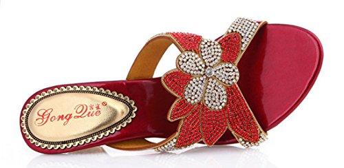 CFP - Zapatos con correa de tobillo mujer Rojo