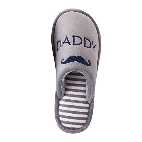 Supersoft Pantoufles Chaussons D'intérieur Gris Couple Chaud Slipper Hommes Femmes Shoes 5pPvBwPn