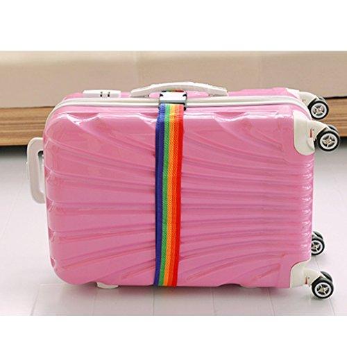 Yeah67886durable Valise Sangle de sécurité bagages Emballage Ceinture avec nom carte