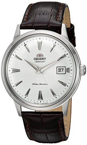 - Orient Men's '2nd Gen. Bambino Ver. 1' Japanese Automatic Stainless Steel and Leather Dress Watch, Color Brown (Model: FAC00005W0)