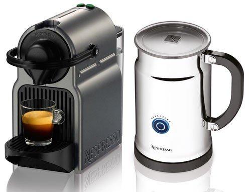 Nespresso A+C40-US-TI-NE Inissia Espresso Maker with Aeroccino Plus Milk Frother, Titan (Discontinued Model)