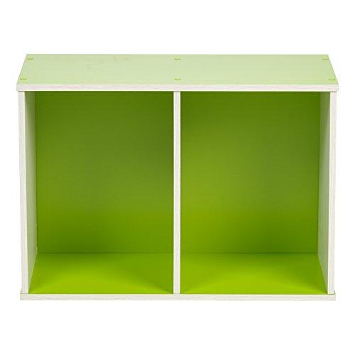 IRIS 2-Tier Wood Storage Shelf, Green by IRIS USA, Inc. (Image #3)