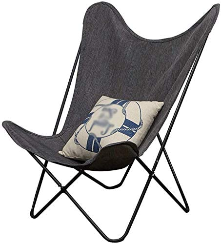 Ayanx - 4 sillas Plegables portátiles reclinables, sillas de jardín, Silla de Camping, Capacidad de Carga: 100 kg, Silla de Mariposa, Silla para jardín, Sala de Estar, Color Gris: Amazon.es: Hogar
