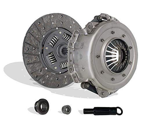 Clutch Kit Set works with Ford F150 F250 F350 Bronco E-150 E-250 Econoline XL XLS XLT Custom Eddie Base XLT Lariat Ghia 1975-1993 4.1L 4.9L L6 5.0L 5.8L V8 GAS OHV Naturally Aspirated