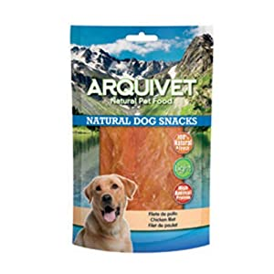 Arquivet Filete de pollo – Snacks naturales para perros – Natural Dog Snacks – Chuches para perros – Golosinas naturales…