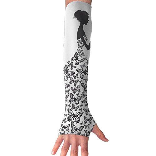 HBSUN FL Unisex Butterflies Make Up A Girl's Skirt Anti-UV Cuff Sunscreen Glove Outdoor Sport Climbing Half Refers Arm Sleeves by HBSUN FL