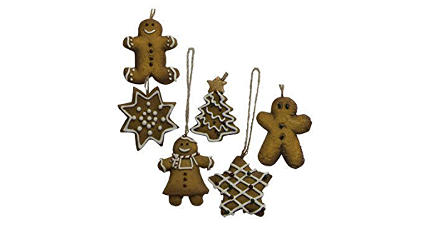 Mini Ginger Cookie Ornament Set Country Primitive Christmas ...