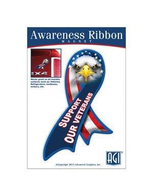 Advanced Graphics M1125VET Support Our Veterans Ribbon Magnet - 1/EA ()