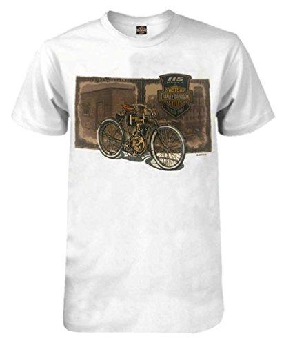 Anniversary Short Sleeve Tee - Harley-Davidson Men's 115th Anniversary Vintage Film Short Sleeve T-Shirt (2XL)