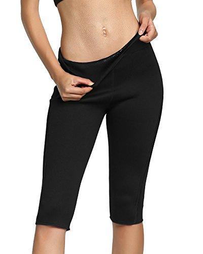 Roseate Womens Slimming Pants High Waist Body Shaper Thermo Sweat Workout Capri S