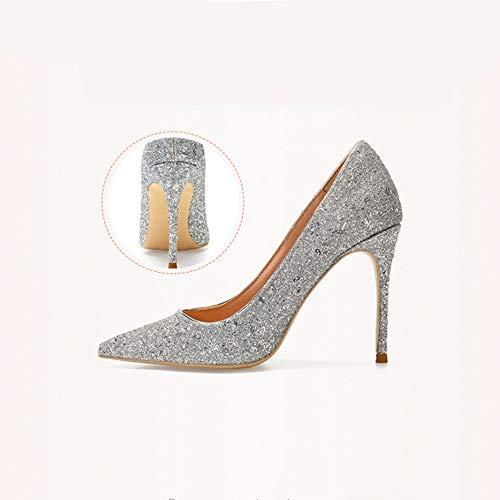 Talon Pour Sexy Pointu 37 En Femmes 10cm Talons Hauts Chaussures Verni Bleu Haut Zl Avec Cuir 46 EMgYfw7qq