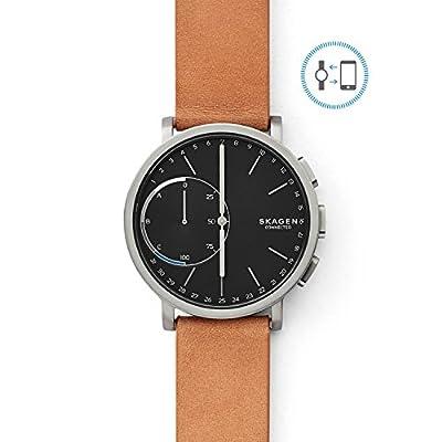 Skagen Hagen Connected Titanium and Leather Hybrid Smartwatch