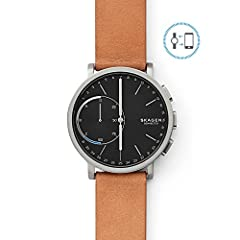 The Hagen Connected hybrid smartwatch boasts a range of smart features in the body of a classic watch. By connecting to your Android or iPhone and the SKAGEN app, the watch sends discreet, filtered-by-you smartphone notifications when you rec...