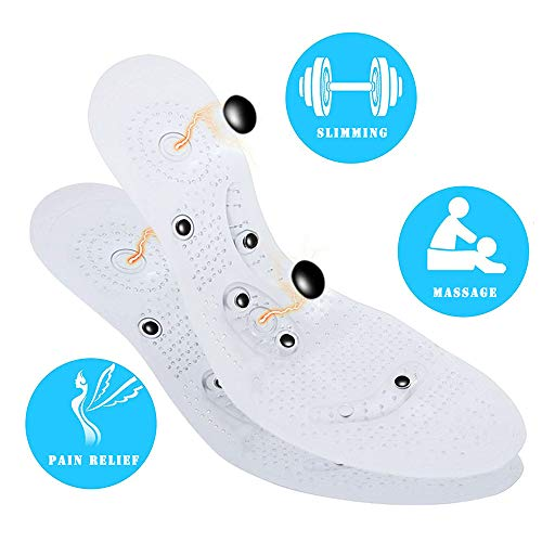 Acupressure Magnetic Foot Therapy Reflexology Pain Relief Shoe Insoles 1 Pair Washable and Cutable (Women and Man) ()