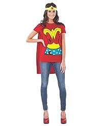 Rubie's Costume Dc Comics Wonder Woman T-Shirt with Cape and Headband,  Costume