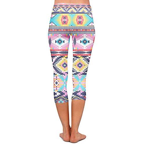 Stretch Printed Capri Running Sportivi A Colour Leggings Yoga Allenamento Fashionable Da Donna Matita Pantaloni Fitness wqX1BAx