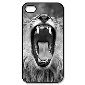 Lion DIY For Apple Iphone 4/4S Case Cover LMc-83465 at LaiMc