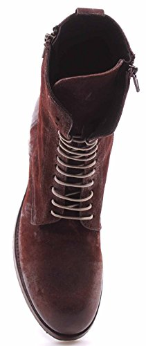 Zapatos Mujer Botines MOMA 80602-Y5 Savage Brick Red Mattone Made In Italy New