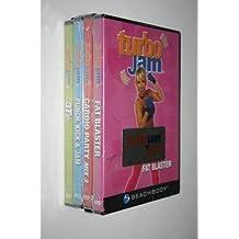 Turbo Jam Maximum Results 4 DVD Set - Fat Blast, Cardio Party Mix 3, Punch Kick & Jam, & 3 Totally Tubular Turbo