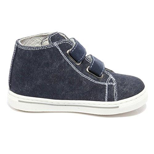 Bimbo Nero Blu Denim Shoe Denim Giardini blu B1856 Kid Sneaker 788rt