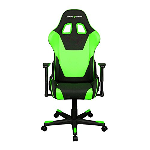 DXRacer Formula Series DOH/FD101/NE Newedge Edition Office Chair Gaming Chair Ergonomic Computer Chair Esports Desk Chair Executive Chair Furniture with Free Cushions (Black/Green) DXRACER USA LLC