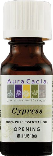 Aura Cacia Essential Solutions Oil Cypress -- 0.5 fl oz