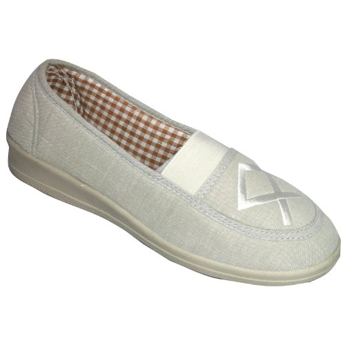 on Shoes Beige Malt Canvas Slip Mirak Shoe Womens zwxEq1fYP