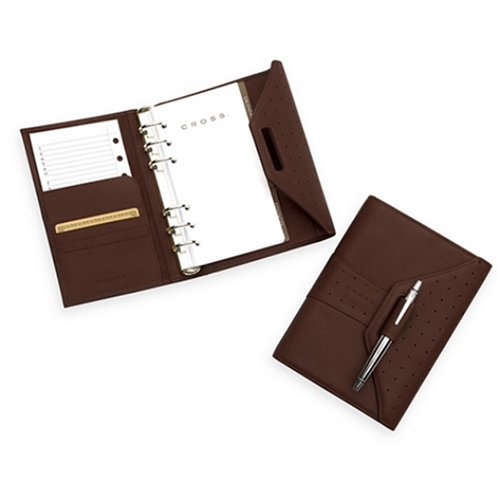 Cross Brown Pebbled - Cross Brown Pebbled Leather Personal Agenda with Pen