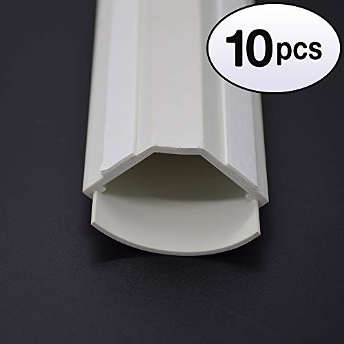 GOWOS (10 Pack) 5Ft Small Corner Duct Cable Raceway White (W43 x H23mm)
