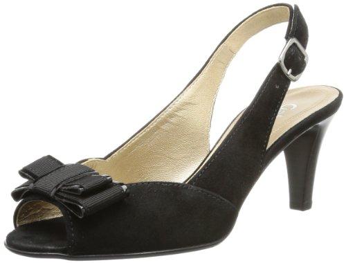 Gabor Shoes Gabor - Punta abierta Mujer Negro (Schwarz (schwarz (LFS rot)))