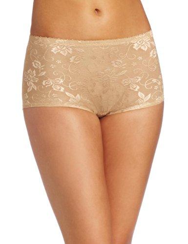 [Heavenly Shapewear Women's Jacquard Padded Panty, Nude, Small] (Padded Underwear)