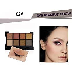 Eyeshadow, Hunzed Women 8 Colors Cosmetic Eyeshadow Makeup Luxury Eyeshadow Palette For Beauty (B)