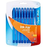 Paper Mate InkJoy 100ST Ballpoint Pen, Capped, Blue, (1803480) (2-Pack of 8)