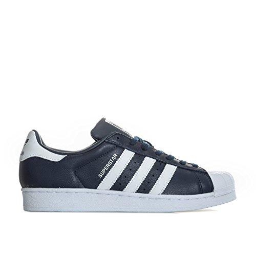 Superstar Bleu White Zapatillas Hombre para Adidas Navy BqdRZBw