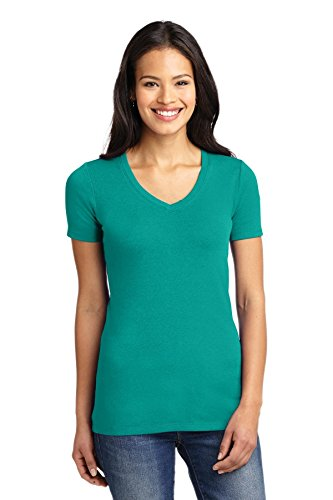 Port Authority Ladies Concept Stretch V-Neck Tee. LM1005 Deep Jade Green XXL (Port Ladies V-neck Tee Authority)