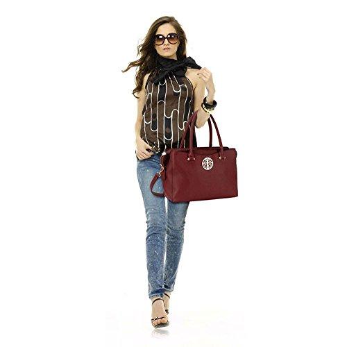 TrendStar Bolsos De Las Señoras Para Mujer Bolsos De Diseño Totalizador De La Moda De Celebridades W - Burgundy