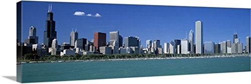 Canvas On Demand Premium Thick-Wrap Canvas Wall Art Print entitled Skyline Chicago IL - Il Water Chicago Tower