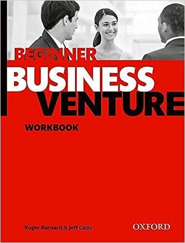 Book Business Venture: Beginner: Workbook by Roger Barnard (2011-04-28)