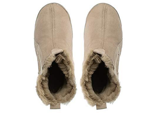 De Chaussons Pantoufle Royale Femme Femmes Mouton Peau Pantoufles Estro Beige Hiver Chaud 8SZ6S