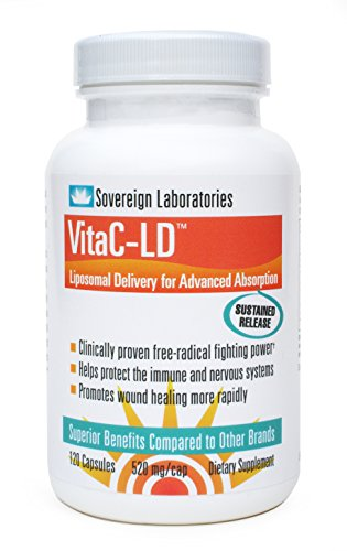 Vitac-LD Liposomal Vitamin C 520mg Capsules 120 Count with Proprietary Liposomal Delivery (LD) Technology for up to 1500% Better Bioavailability than Regular Ascorbic Acid Vitamin C Supplements