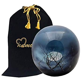 MEMORIALS 4U Midnight Moon Sphere of Life Cremation Urn – 100 Handcrafted Adult Funeral Urn – Solid Metal Affordable Large Urn for Human Ashes