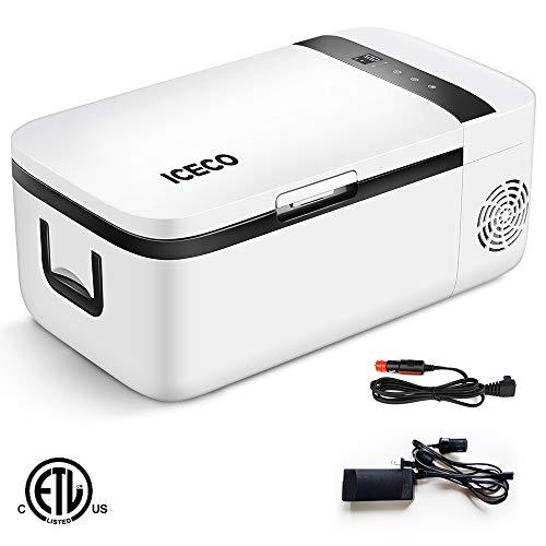 ICECO T12 Portable Refrigerator, APP Control, Danfoss Compressor, Touch Screen, DC 12/24 V, AC 110-240V, 0℉ to 50℉, for Car & Home Use (12.7 Quart)