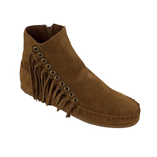 Minnetonka Boot Women's Suede 5 Dusty Brown M 5 Willow wEEvr