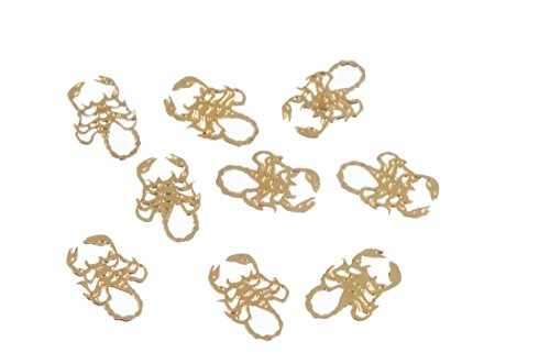 (Zink Color Nail Art Gold Scorpion Metal Decal 10 Piece Embellishment)